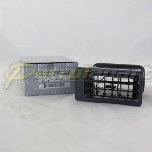 Genuine Nissan Patrol GQ & Maverick LH Dash Air Vent ( 6876101J01W )