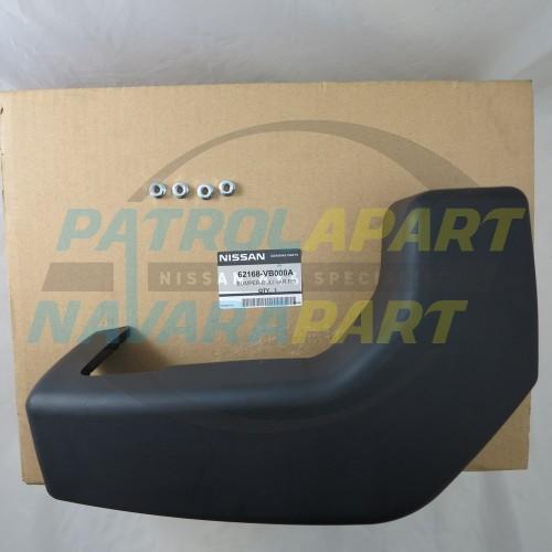 Details about Genuine Nissan Patrol GU Steel Bull Bar Bumperette Kit RHS  (62168VB000A)