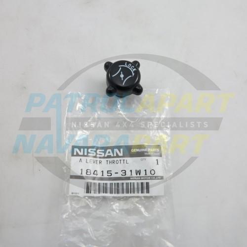 Genuine Nissan GQ GU Patrol Hand Throttle Idle Control Knob