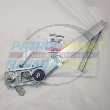 Genuine Nissan Patrol GQ RH Front Right 1/4 Vent Window Regulator