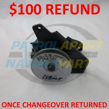 Nissan Patrol GQ GU RD28 Rebuilt Power Steering Pump C/O