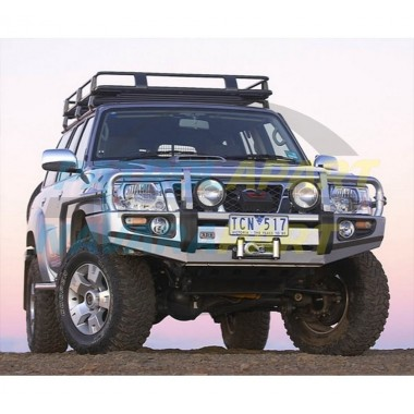ARB Deluxe Winch Bull Bar Suit Nissan Patrol GU Series 4 with Flares