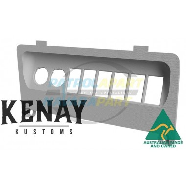 Kenay Kustom Dash Lower Switch Panel for Nissan Patrol GU Y61 Colour Code K