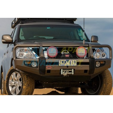ARB Deluxe Non Winch BullBAR suit Nissan Patrol Y62 S1-3 Colour KAD Grey