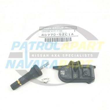 Genuine Nissan Patrol Y62 Tyre Pressure Monitor & Valve with Clip