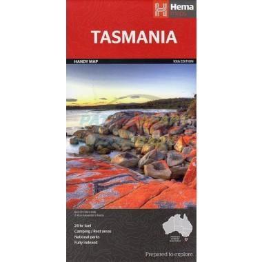 Tasmania Handy Hema Map