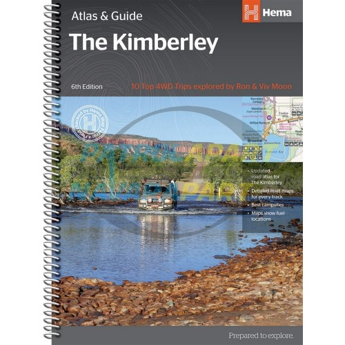 Hema Kimberley Atlas and Guide Spiral Book NEW 6th Edition