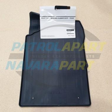 Genuine Nissan Patrol Y62 Front Heavy Duty Rubber Floor Mat PAIR