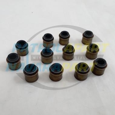 Inlet & Exhaust Valve Stem Seal Set for Nissan Patrol GQ GU TD42 4.2L