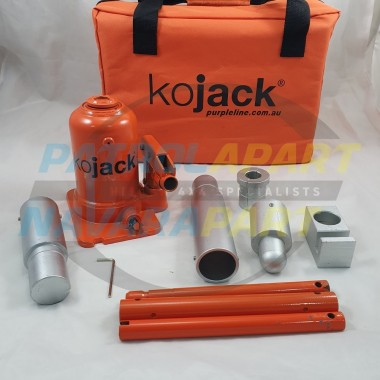 KO Hydraulic Bottle Jack High Lift 750mm 5 Piece for 4x4 4wd Caravan