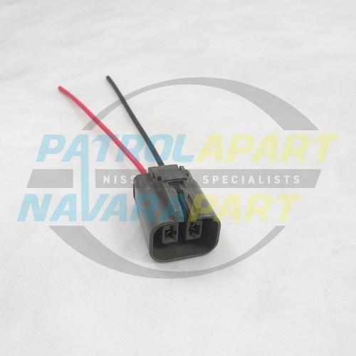 Alternator Wiring Plug for Nissan Patrol GQ Y60 GU Y61 2 pin plug