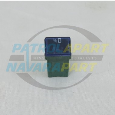 Nissan Patrol GU 40Amp Push in Green/Blue Fuse S/H