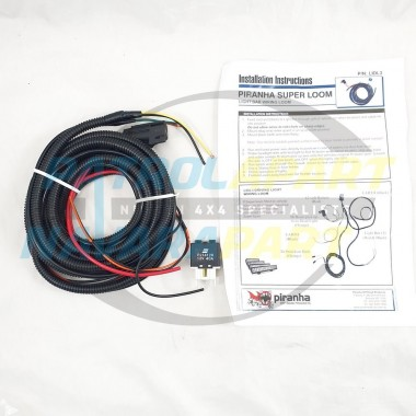 Premium Quality Upgrade LED LIGHT BAR Wiring Super Loom