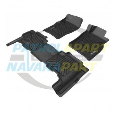 TruFit 3D Rubber Floor Mats MAXTRAC for Nissan Patrol GU Wagon Front & Rear