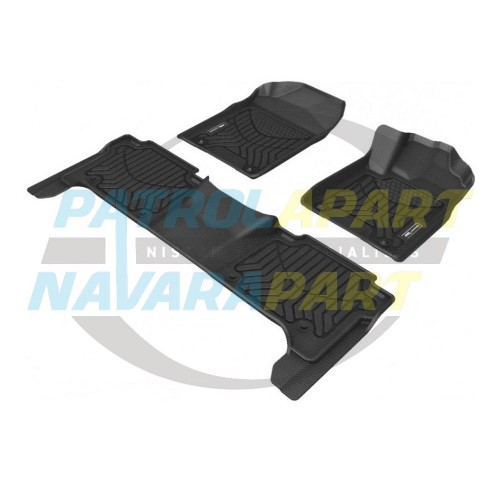 TruFit 3D Rubber Floor Mats MAXTRAC for Nissan Patrol Y62 Front & Rear