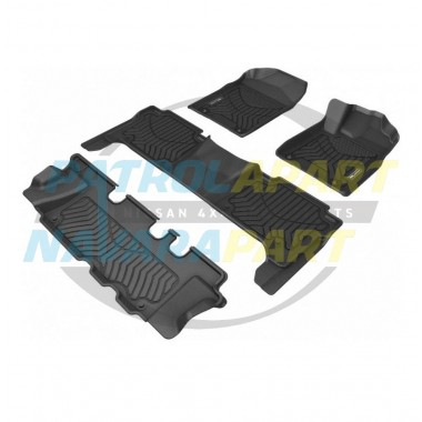 TruFit 3D Rubber Floor Mats MAXTRAC for Nissan Patrol Y62 Front Rear & Cargo