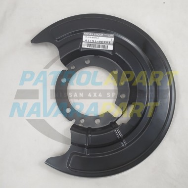 Genuine Nissan Patrol GU Y61 Series 3 on Right Hand Front Brake Backing Plate