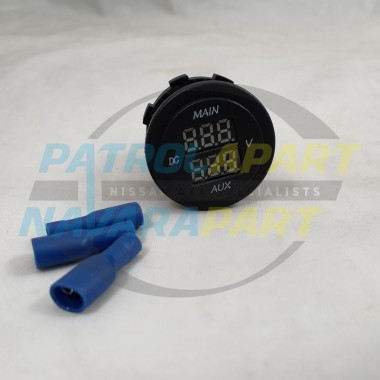 Baintech Dual Volt Meter 12V Main AUX Battery Monitor for 4WD 4x4