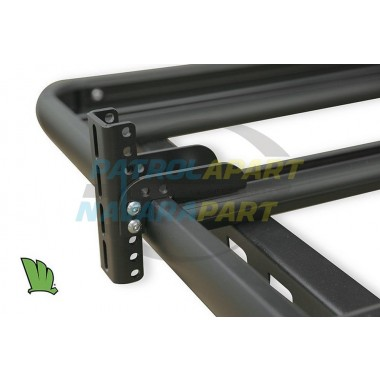 Wedgetail Roof Rack Accessory - Pair of ADJUSTABLE Awning Brackets in Black