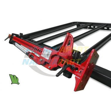 Wedgetail Roof Rack Accessory - Pair High Lift Jack Brackets in Black