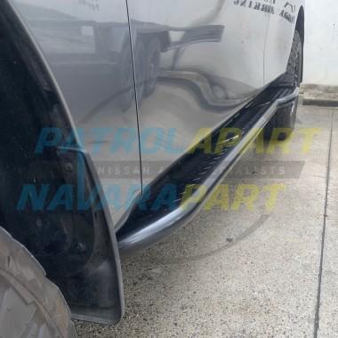 Raslarr Rocksliders with Checker Top Rear Loop for Nissan Patrol Y62