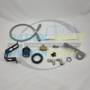 Rear Quarter Air Outlet Bracket Full Kit with Template & Hose for Nissan Patrol Y62