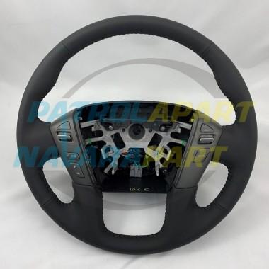 Genuine Nissan Patrol Y62 Leather Steering Wheel Brand New
