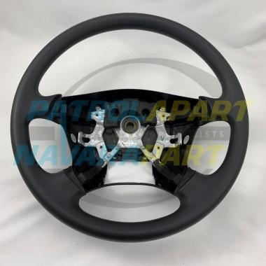 Genuine Nissan Patrol GU Y61 Series 4 onward Black NON-Leather Steering Wheel