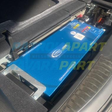 Slimline Lithium Underfloor Battery Tray for Nissan Patrol Y62 Cargo Area