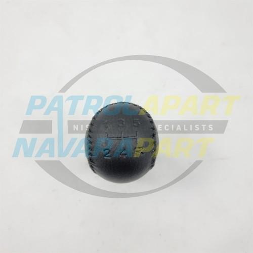Black Lather Gear Knob Colour Code G suit Nissan Patrol GU Series 4-9
