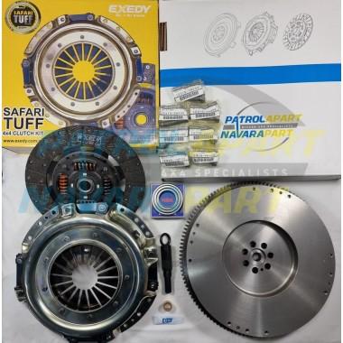 Safari Tuff Clutch Kit with Solid Flywheel suit Nissan Patrol GU Y61 ZD30