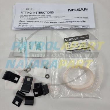 Genuine Nissan Patrol Y62 Series 5 11/2019 onwards Bonnet Protector Fit Kit