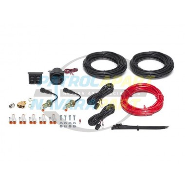 Dual Digital Gauge & Pneumatic Switches Air Bag Pump up Kit to suit a wide range or vehicles