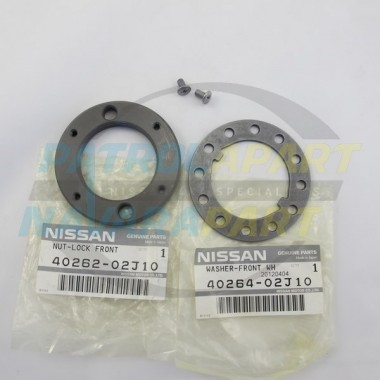 Nissan Patrol Genuine GQ GU Hub Nut Kit (1 Side)