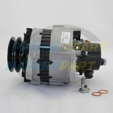 Nissan Patrol GQ TD42 Diesel Alternator 90amp with Vac Pump
