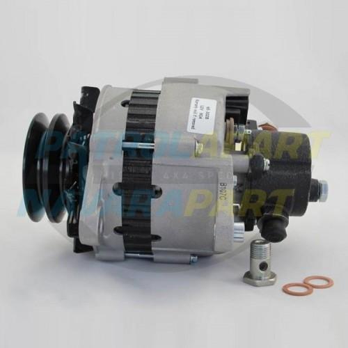 Nissan Patrol GQ TD42 Diesel Alternator 90amp with Vac Pump