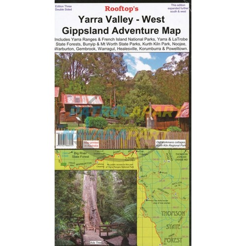 Yarra Valley West Gippsland Adventure Map Rooftop
