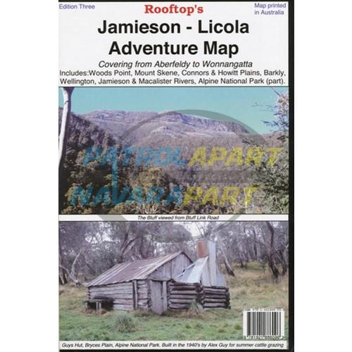 Jamieson / Licola Adventure Map - Rooftop