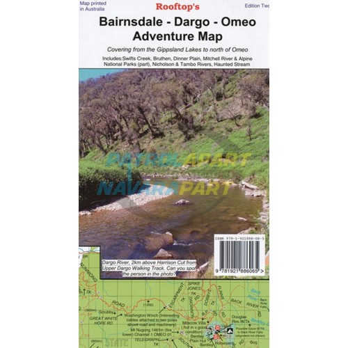 Map Bairnsdale Dargo Omeo Rooftop Adventure Map