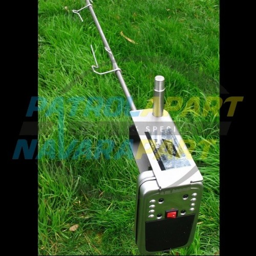 Auspit Stainless Steel BBQ Rotisserie Spit Kit for Camping & 4wding