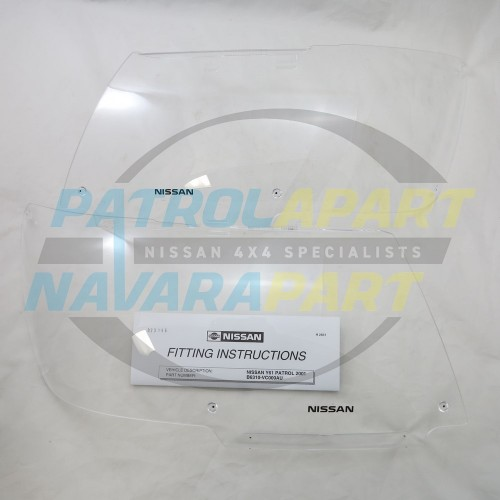 Genuine Nissan Patrol GU Series 3 Headlight Protectors