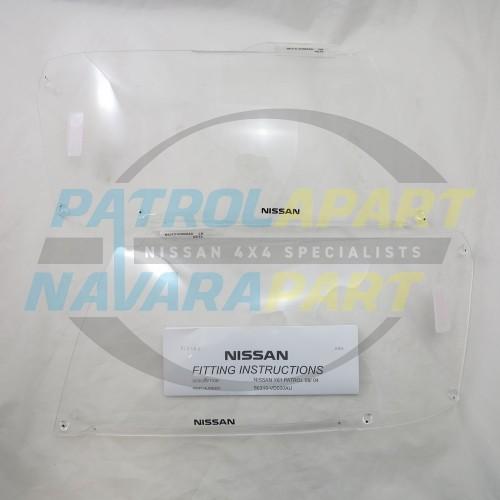 Genuine Nissan Patrol GU series 4 Headlight Protectors