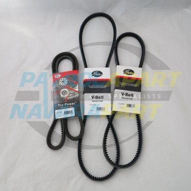 Nissan Patrol GQ Y60 Gates Fan BELT KIT TD42