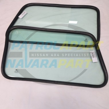 Solid Fixed Side Windows suit Nissan Patrol GQ Replacement Pair