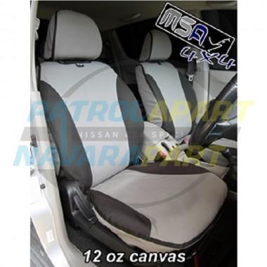 MSA Seat Cover Nissan Patrol GU series 4 Front pair