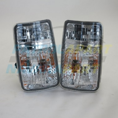 Crystal Corner Indicator Light Set suit Nissan Patrol GQ Series 2 Grille