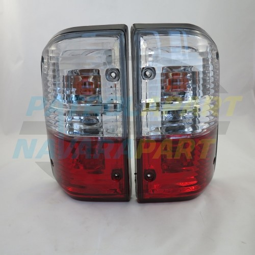Tail Lights PAIR 3 Colour Crystal GU Look for Nissan Patrol GQ Y60