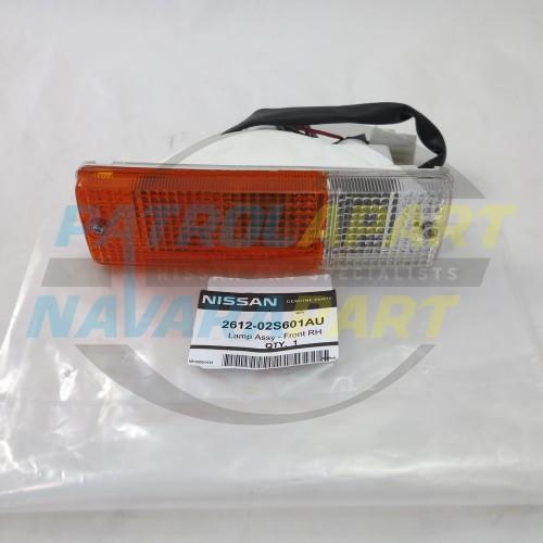 Genuine Nissan Patrol GU Steel BullBar Indicator Light RH