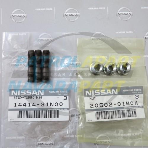 Genuine Nissan Patrol GU ZD30 Turbo to Manifold Studs & Nuts