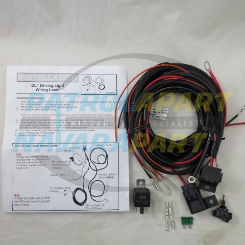 Premium Quality Upgrade Spot Light / Driving Lights Wiring Loom